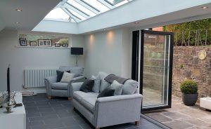 Aluminium orangery interior view