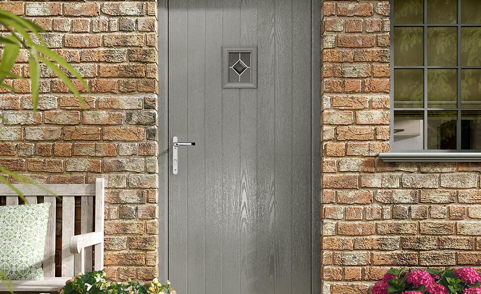Grey composite back door
