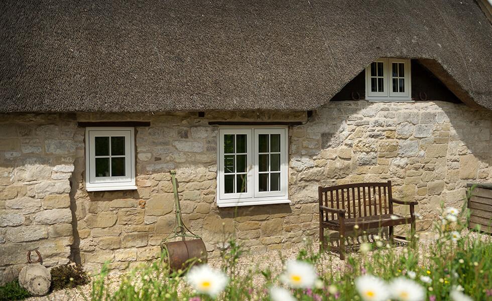 White heritage Residence 9 flush sash windows