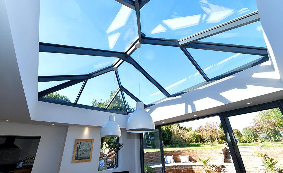 Large modern lantern roof