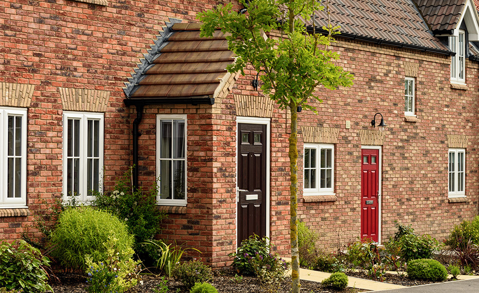 Front porch with composite door