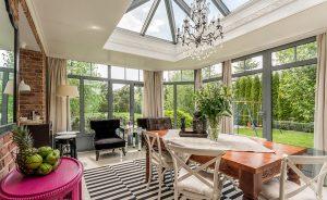 Traditional orangery interior view