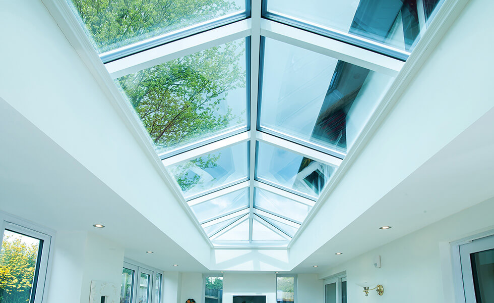 White lantern roof interior view