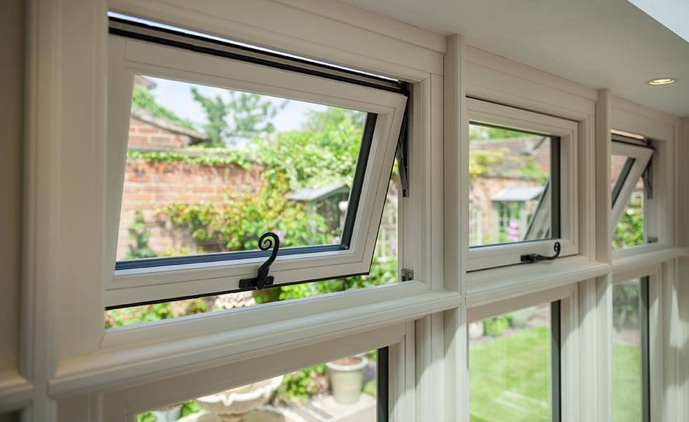 Double glazed windows with insulation