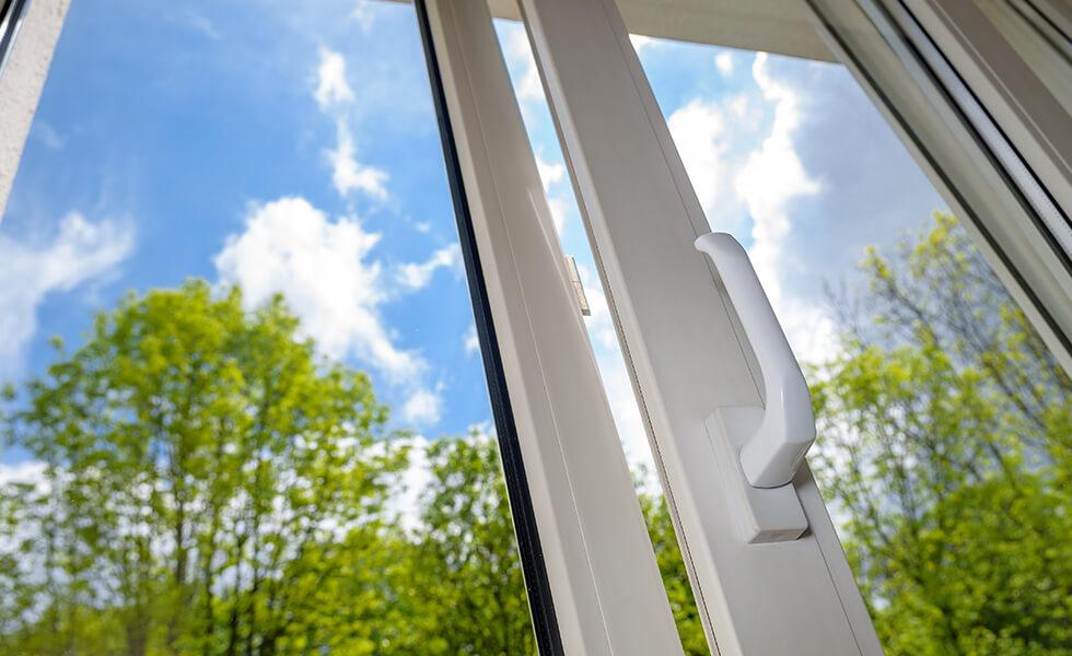 White uPVC tilt and turn window handle