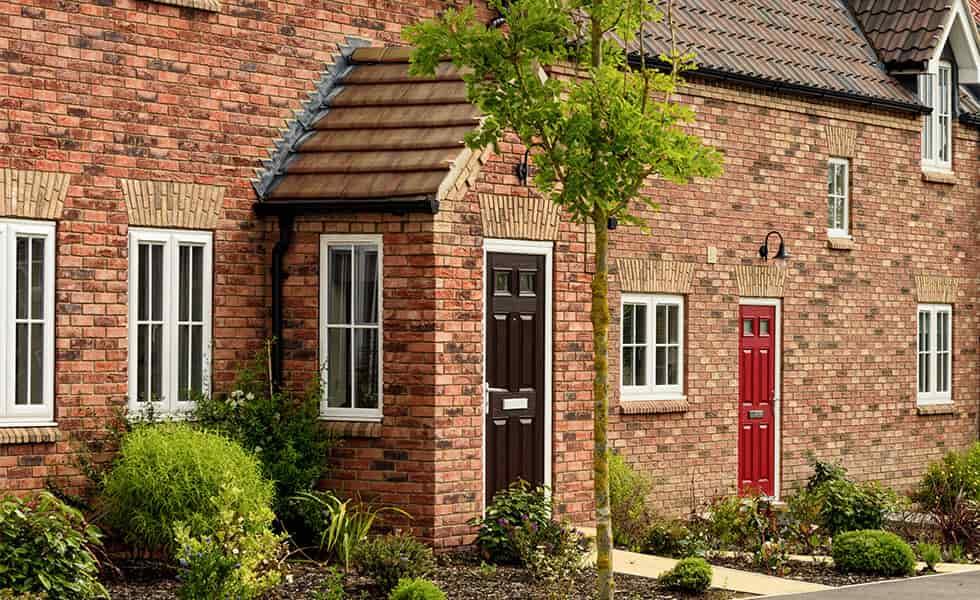 Front porch with composite door