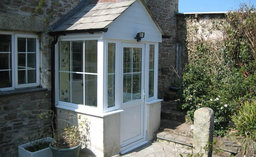 White uPVC front porch