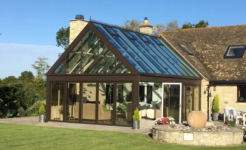A Brown Gable conservatory and back garden